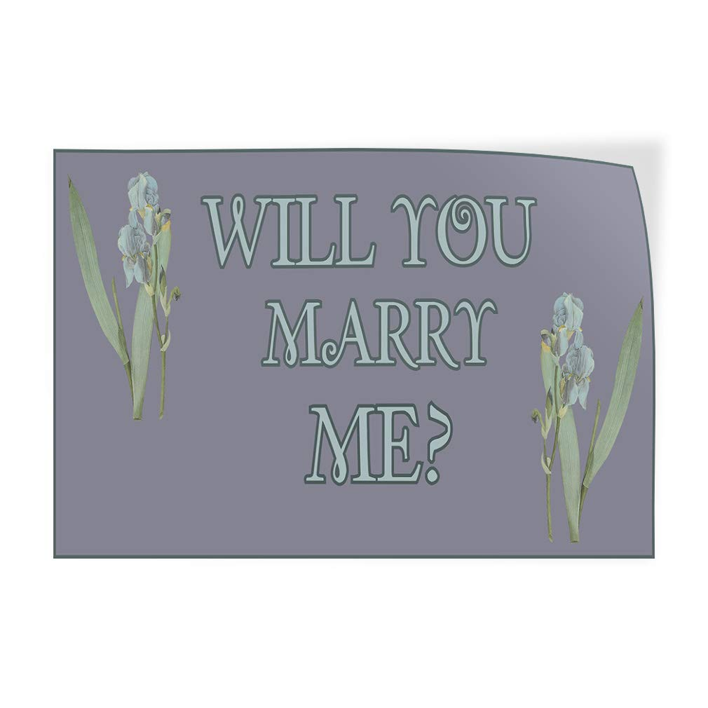 Set of 2 54inx36in Decal Sticker Multiple Sizes Will You Marry Me Grey White Lifestyle Will You Marry Me Outdoor Store Sign Grey