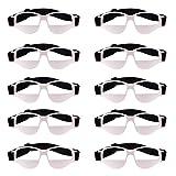 MonkeyJack 10 Pieces Anti Down Basketball Glasses Frame Sports Eyewear Professional Basketball Training Supplies White