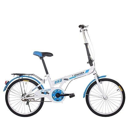 Bicicleta Plegable De 20 Pulgadas, Bicicleta De Carretera De Velocidad De Estudiante Adulto Masculino Y