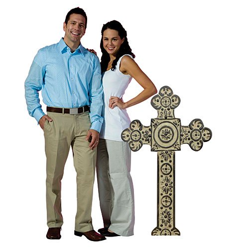 (3 ft. 10 in. Bible School Cross Standee Standup Photo Booth Prop Background Backdrop Party Decoration Decor Scene Setter Cardboard Cutout)