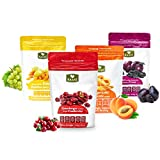 Cheap Dried Fruit Variety Pack with Prunes, Apricots, Golden Raisins and Craisins from Basse – Delicious Sweet Pitted Prunes, Dried Apricots, Jumbo Raisins, Dried Cranberries 4 Bags (1 Pack)
