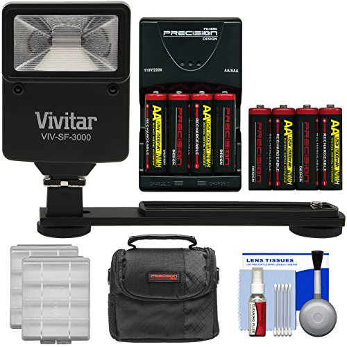 - Essentials Bundle for Kodak PixPro AZ251, AZ365, FZ41, FZ43, WP1 with AA Batteries & Charger + Case + Flash & Bracket + Kit