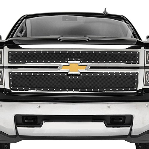 MPH Production 2014-2015 Chevy Silverado 1500 Reg Model Stainless Rivet Mesh Grille Inserts
