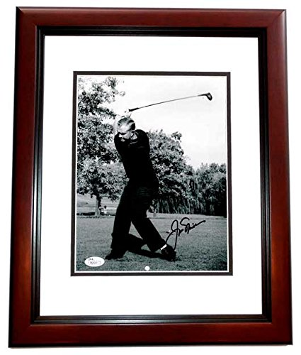 Jack Nicklaus Signed - Autographed Golf 8x10 Photo MAHOGANY CUSTOM FRAME - The Golden Bear - JSA Certificate of...