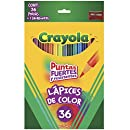 Crayola Colored Pencils, Long, 36-Pack, Great For Adult Coloring