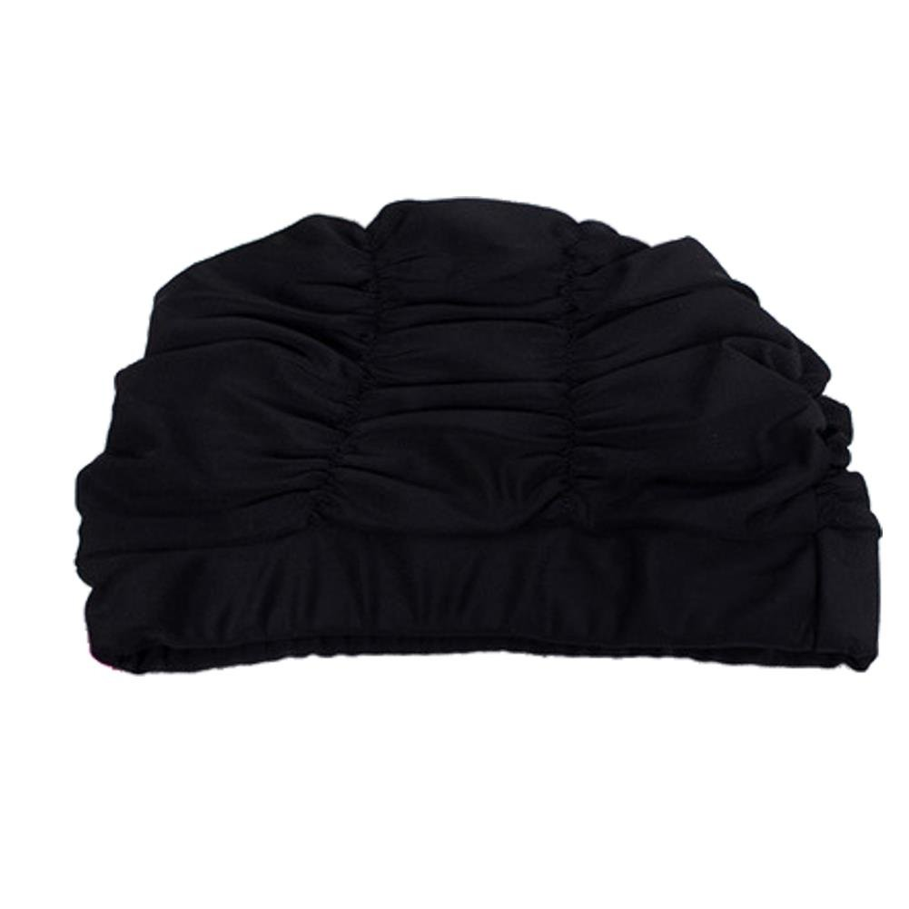 Cuffia donna in Nylon per piscina per cappelli lunghi, motivo: turbante