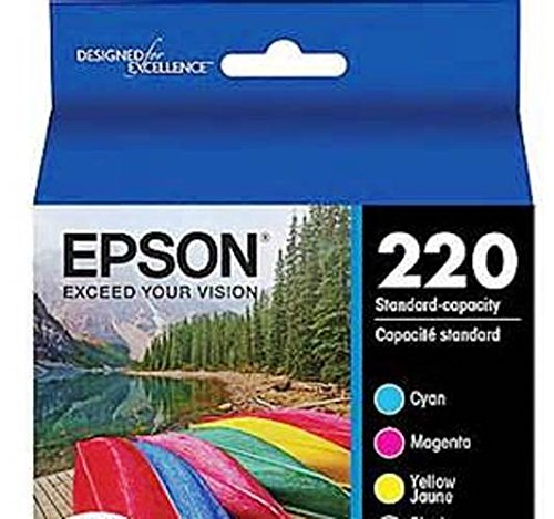 Epson 220 Color Inkjet Set. Yellow / Cyan / Magenta. Not in the retail box. Sealed in the original plastic packaging.