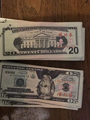 XDOWMO Prop Money Play Money Pretend Dollar Bills 2,000 Full Print Money  Copy of 20 Dollar Bills Stack