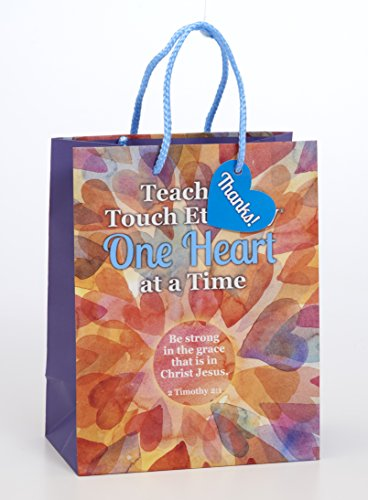 (Teachers Touch Eternity Hearts 7 x 9 Inch Paper Gift Bag with Tag Pack of 2 )