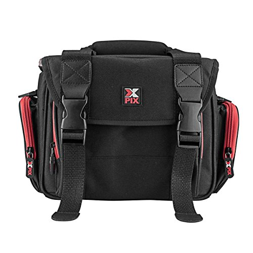 Xpix Deluxe Camera/Camcorder & Accessories Protector Bag with Shoulder Strap