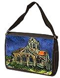 The Church At Auvers By Vincent Van Gogh Laptop Shoulder Bag