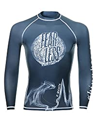 Rash Guard Men , DIVE & SAIL UV UPF 50 Shirt Long Sleeve Protection Quick Drying Swimsuit for Watersports