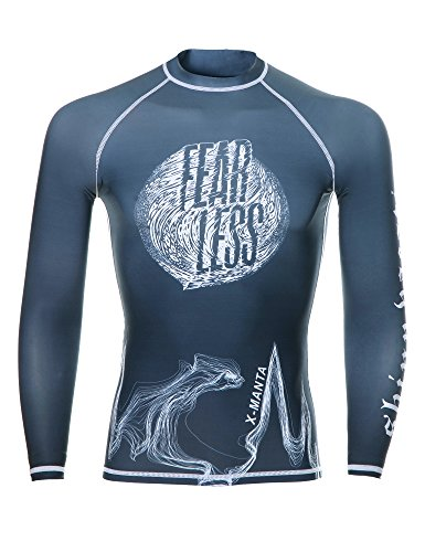 Mens Rash Guard, DIVE & SAIL Quick-drying UV Surfing Shirts UPF 50 Base Layer Shirt Swim Shirt for Men