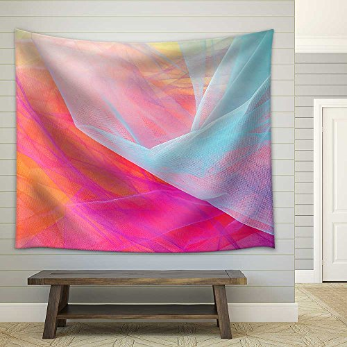 Colorful Abstract Tulle Background and Textures Fabric Wall