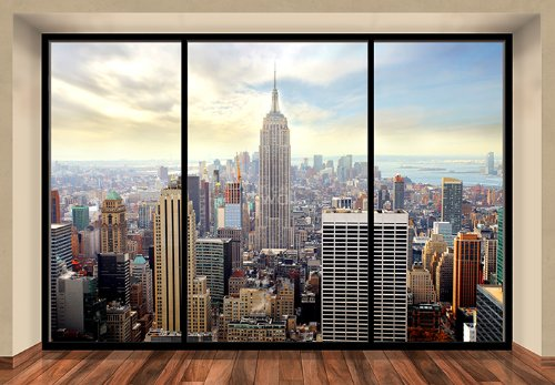 Wall Mural NEW YORK CITY SKYLINE U0026quot;PENTHOUSEu0026quot; Photo Wallpaper ...