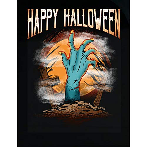 Groovy Gifts For All Happy Halloween Buried Zombie Hand - Transparent Sticker