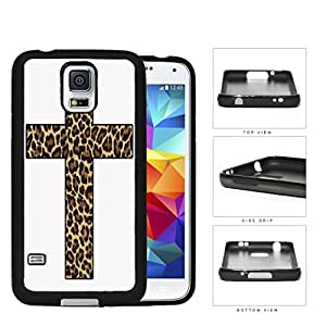 Cute Religion Leopard Print Cross Silicone Cell Phone Case Samsung Galaxy S5 SM-G900