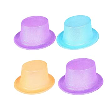 716fea902a5 Buy TOYMYTOY 4 Pieces Glitter Party Top Hats - Children Jazz Hat for for  Kids Stage Performances Christmas Halloween Parties Online at Low Prices in  India ...