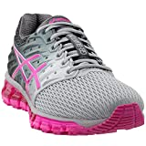 ASICS Women's Gel-Quantum 180 2 Running Shoe, Mid Grey/Pink Glow/Carbon, 7.5 M US