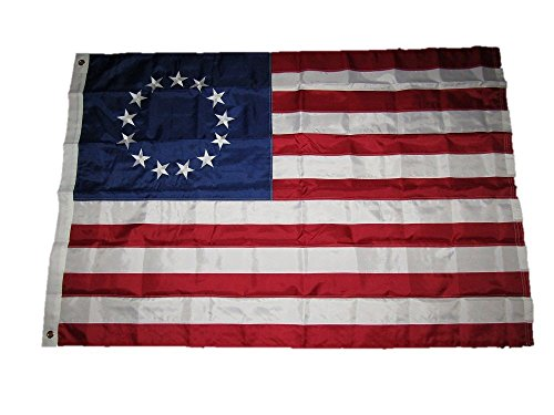 4×6 Embroidered Sewn Betsy Ross 210D Solarmax Nylon Flag 4'x6′ For Sale