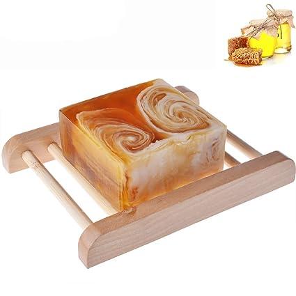 1PC hecha a mano del jabón de leche Bares con miel todos naturales orgánicos Ingredientes Honey