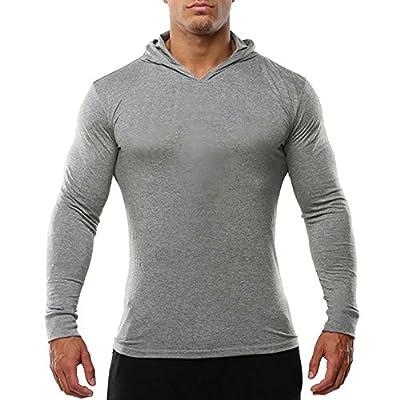 Wholesale OA ONRUSH AESTHETICS Men's Gym Sport Absorb Sweat Hoodies Gray XXL