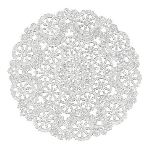 Royal Medallion Lace Round Paper Doilies, 10-Inch, Pack of 12 (Round Medallion)