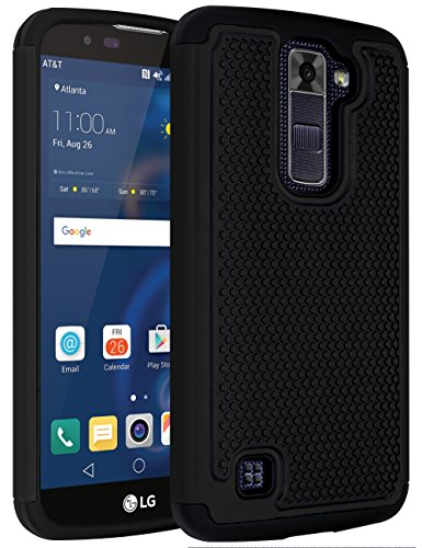 LG K10 Case, LG Premier LTE L62VL L61AL Case,ANLI(TM)[Shock Absorption] Drop Protection Hybrid Dual Layer Armor Defender Protective Case Cover for LG K10/LG Premier LTE L62VL L61AL Black