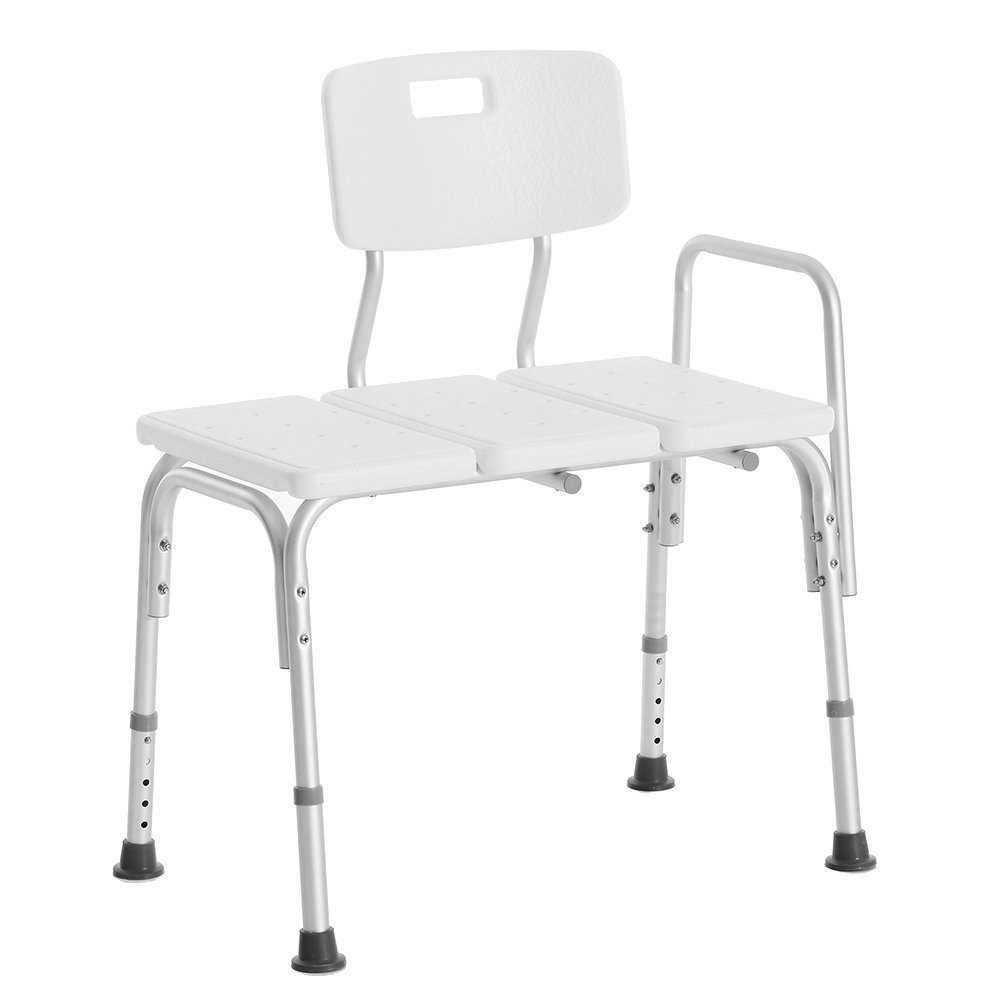 Anself Adjustable Height Shower Bath Chair, Seat Medical Bathroom Tub Transfer Bench
