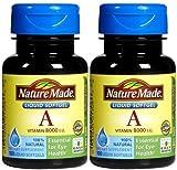 vitamin d 8000 - Nature Made Vitamin A 8,000 IU Softgels, 2 pk