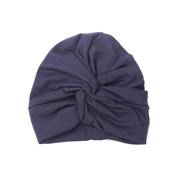 FENICAL Gorro de Bufanda Cruzado Tocado de algodón Sombrero Indio de Cruz Popular Sombrero de pañuelo
