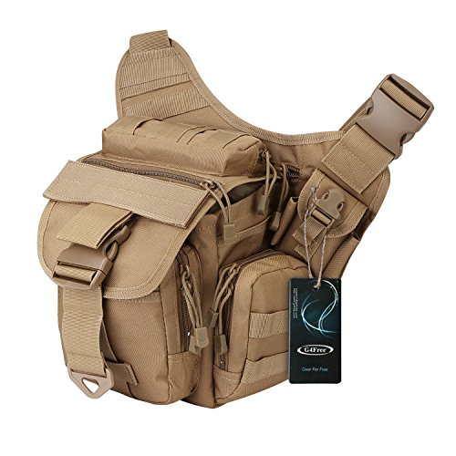 G4Free Multi-Functional Tactical Messenger Bag Utility Pouch Versipack ()