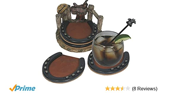 Amazon.com : REP Horseshoe Coaster Set 537 : Red Coasters For Drinks : Sports & Outdoors