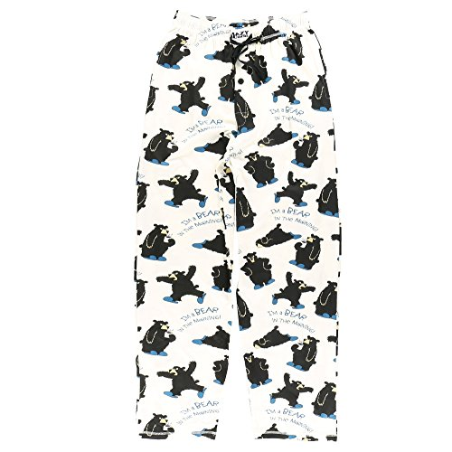 Bear in The Morning Men's Pajama Pants Bottom by LazyOne | Pajama Bottom for Men (Small) (Men All In One Pajamas)