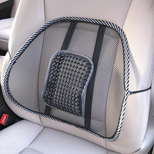 Auntwhale Massage Cushion Cool Vent Mesh Back Lumber Support Brace Office Home Chair Car Seat Relax Pad