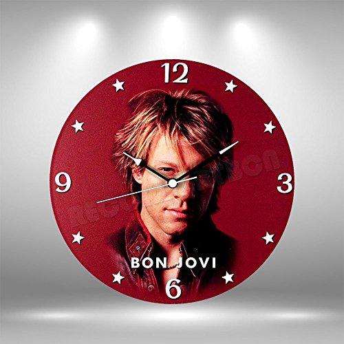 Bon Jovi Vinyl record clock - Handmade original gifts & home decoration. (Bon Vintage Clock)