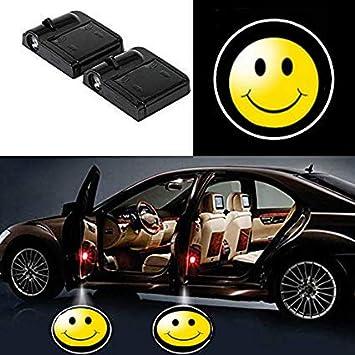 Superman 2 Pcs Wireless Car Door Led Welcome Laser Projector Logo Light Ghost Shadow Light Lamp Logos