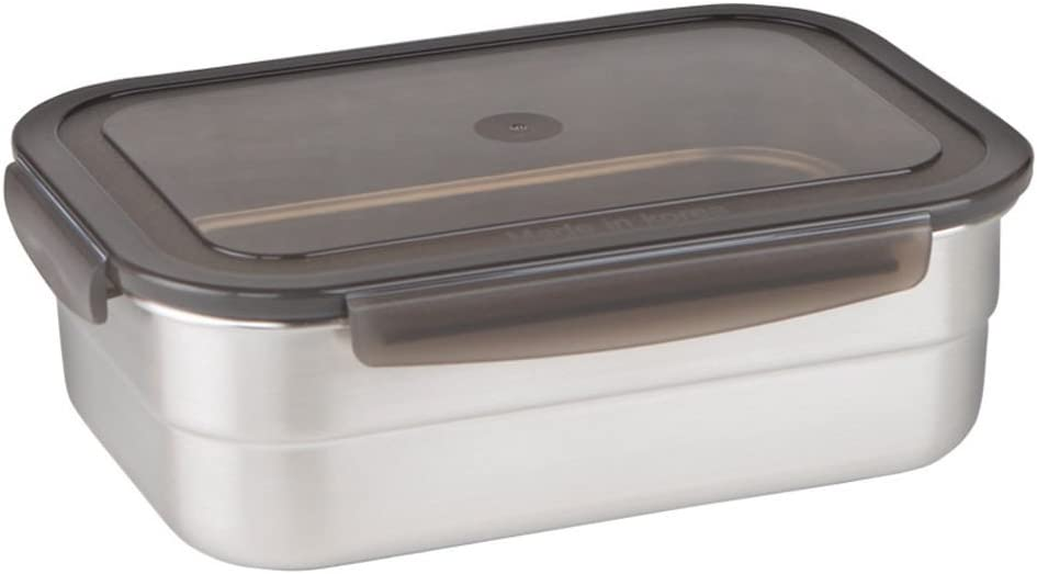 STENCOC Stainless Steel BPA Free Rectangular Leakproof Airtight Kimchi/Pickle / Salad/Fruit / Food Storage Container Saver (1.5L / 51oz / 8.3