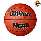 Wilson NCAA MVP Rubber Basketball, Official - 29.5'' (5 Pack)