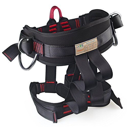 Thicken Wider Climbing Harness, Oumers Protect Waist Version Waistbelt Wider Safe Seat Belts For Mountaineering Fire Rescue Higher Level Caving Rock Climbing Rappelling Equip Women Man Child Half Body - Fire Service Harness