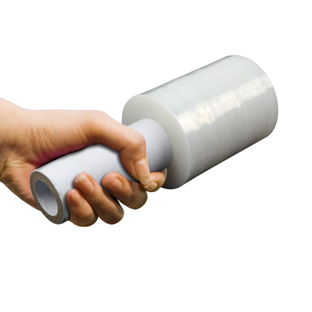 LIVEHITOP Plastic Wrap with Handle Stretch Wrap with Handle Shrink Wrap Roll for Furniture, Boxes(4'' x 750 ft x 2 Pack,4'' x 625 ft x 1 Pack) by LIVEHITOP (Image #3)