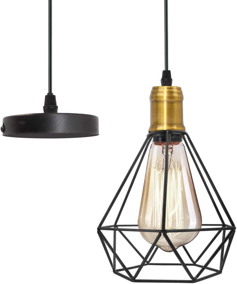 Pendant Lighting Hanging Lights Flush Mount Light Fixture Industrial Ceiling Light Fxitures with E26 Bulb Base.