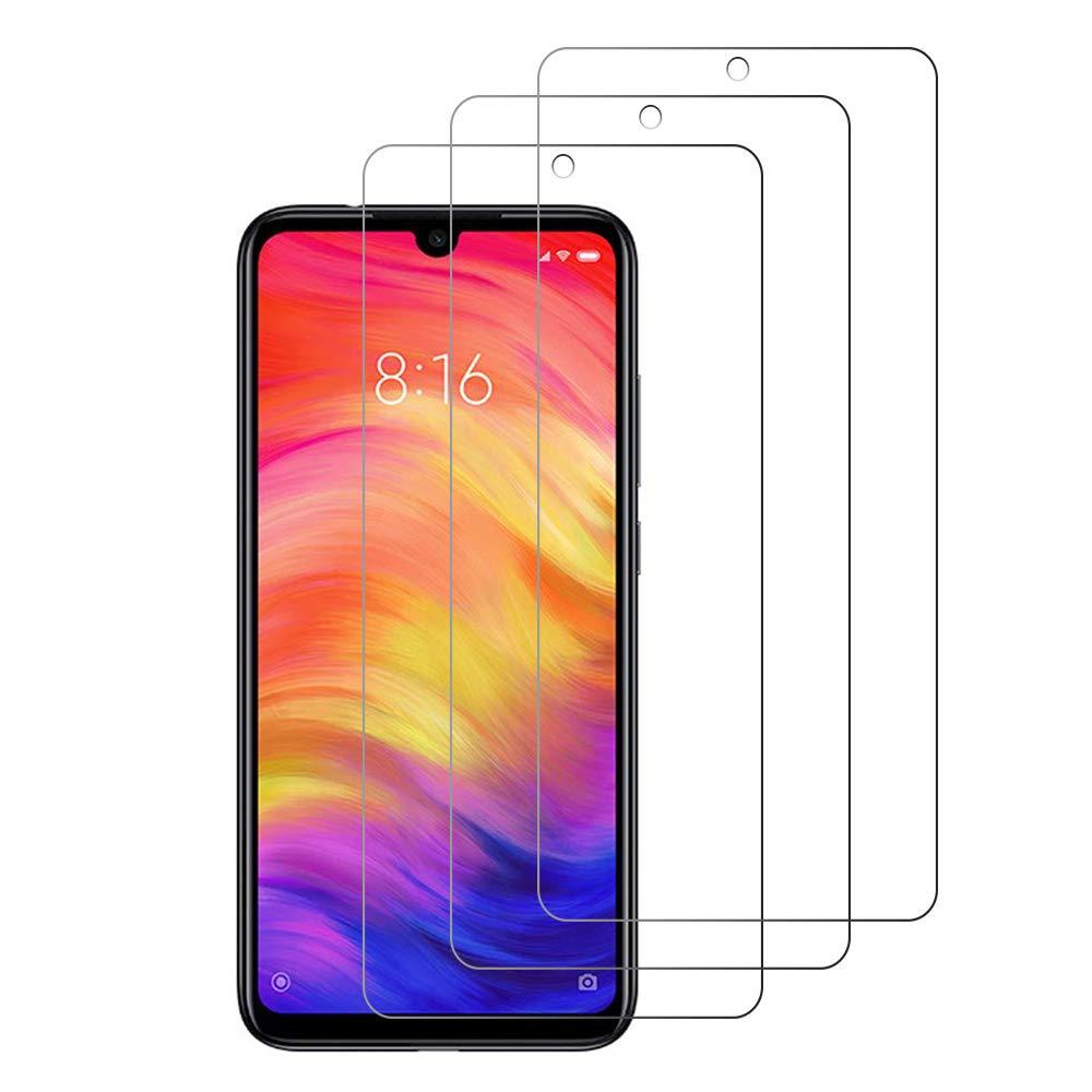 Cristal Templado Xiaomi Redmi Note 7 // Redmi Note 7 Pro Loyiigo 3 Unidades Protector Pantalla Xiaomi Redmi Note 7 // Redmi Note 7 Pro 9H Dureza 2.5d Bord Alta Transparencia
