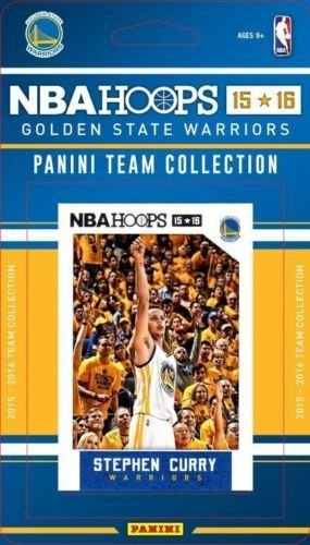 2015-16 Panini NBA Hoops Golden State Warriors Team Set of 10 Cards: Andre Iguodala, Harrison Barnes, Marreese Speights, Andrew Bogut, Klay Thompson, Draymond Green, Shaun Livingston, Stephen Curry, Leandro Barbosa, Kevon Looney (Factory Sealed)
