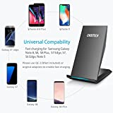 Fast Wireless Charger, CHOETECH Qi Fast Charge Wireless Charger Stand for Samsung Galaxy Note 8 S8 Plus S8+ S8 S7 S7 Edge Note 5 and Standard Charge for iPhone X iPhone 8 iPhone 8 Plus (No AC Adapter)