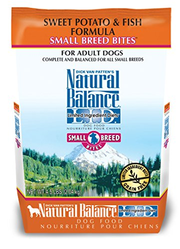 Natural Balance Small Breed Bites L.I.D. Limited Ingredient Diets Dry Dog Food, Grain Free, Sweet Potato & Fish Formula, 4.5-Pound