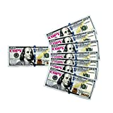Play Money Prop New 100 Dollar Bills Toy Cash Pretend - Total $10,000 Full Print Copy Money for Games and Education
