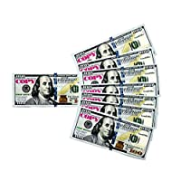 GoodOffer 100 Dollars Play Money - Realistic Prop Money 100 pcs. - Total of $10,000 Copy Money with Two Sides for Pranks, Games, Monopoly - Educational Play Money for Kids - Prop Hundred Dollar Bills