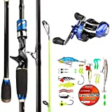 DAGEZI Fishing Rod and Reel Combo HY678 2019 Baitcasting Rod for Saltwater Fishing Rod and Reel Combos Set Including Casting Rod Reel Line Bait A Must Have