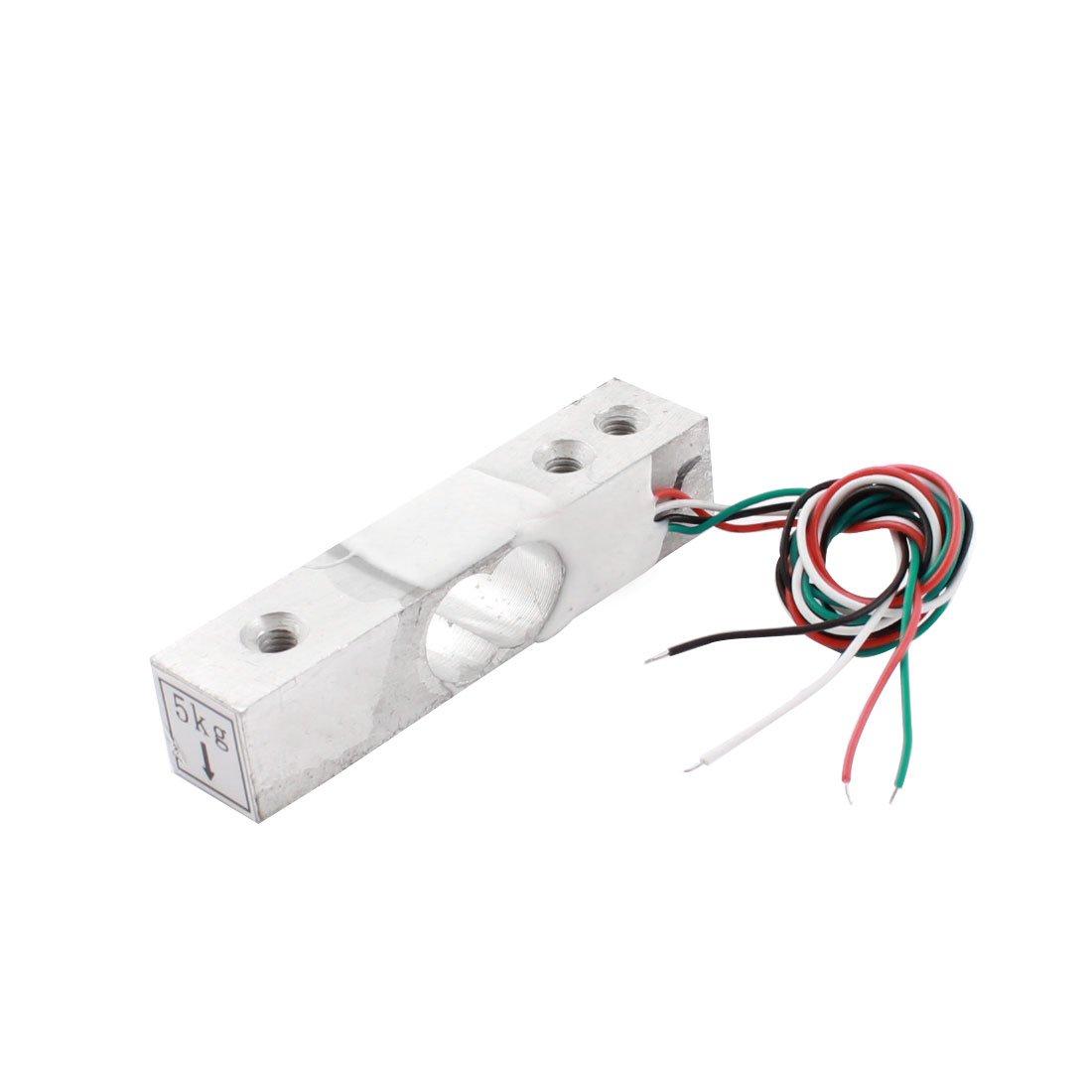 Aexit 5Kg Rectangle Aluminium Alloy Mini Load Cell Weighting Pressure Sensor